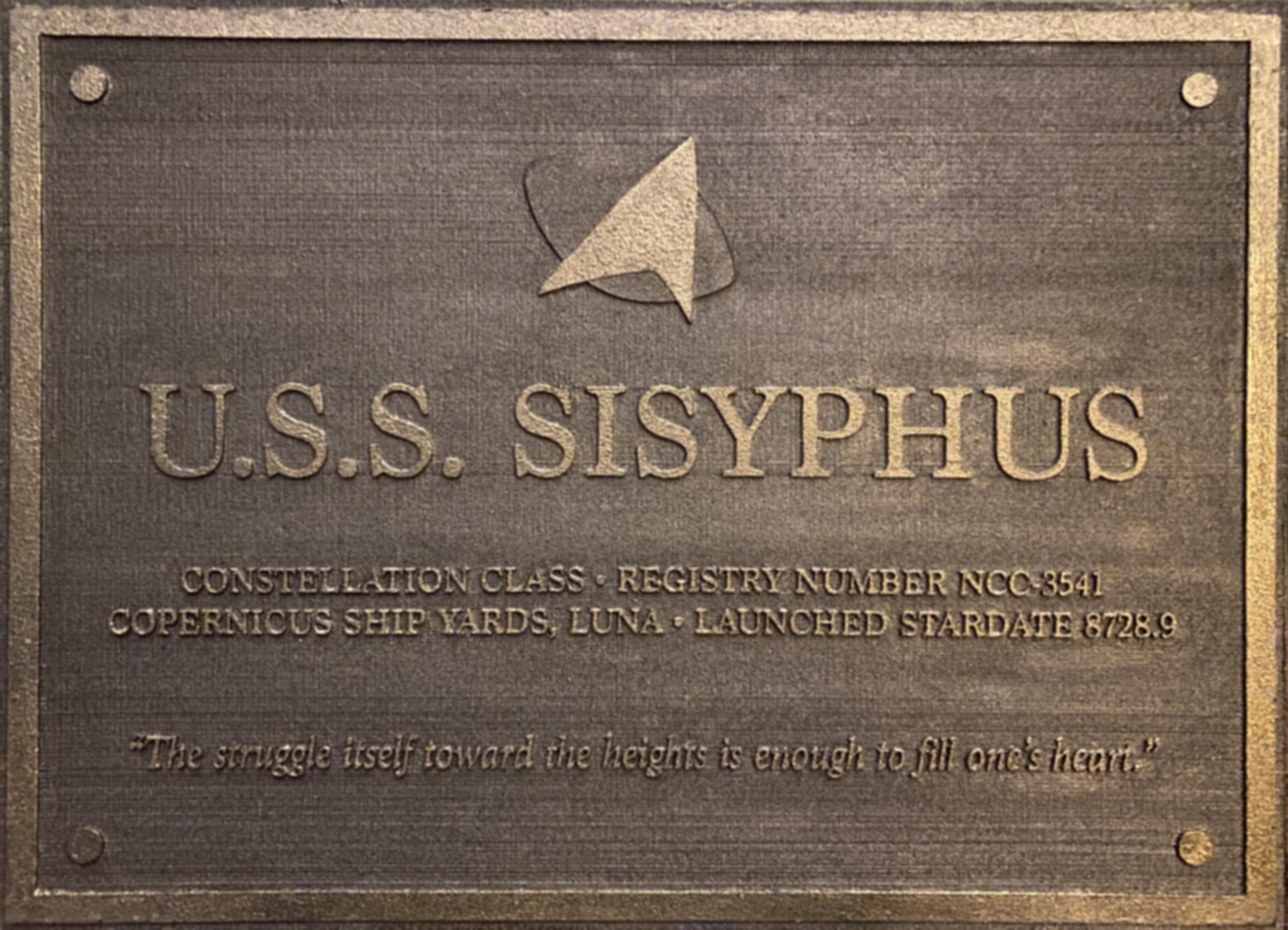 Sisyphus Plaque by Dan Granata